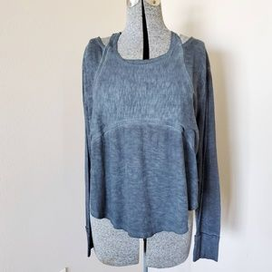 Free People Movement Grey Long Sleeve Top S